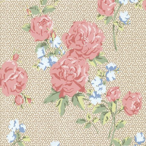 View Borde Hill – Cream/Pink/Gilver