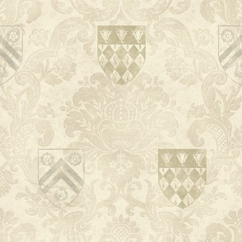 View The Dean's Damask – Flax