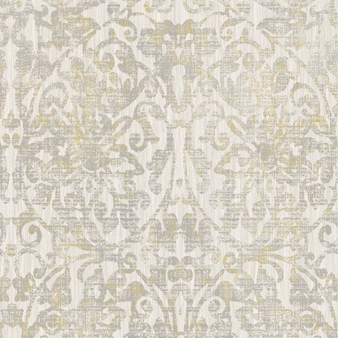 View Hurst Damask – Oyster / Grey