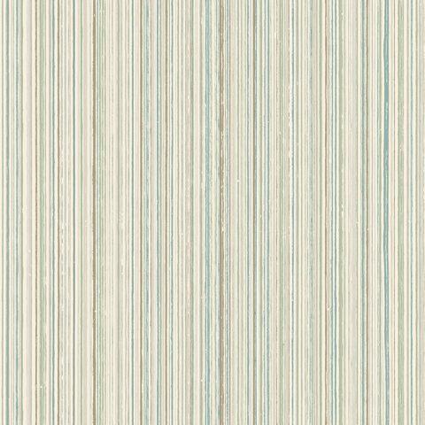 View Milne Stripe – Aqua / Linen