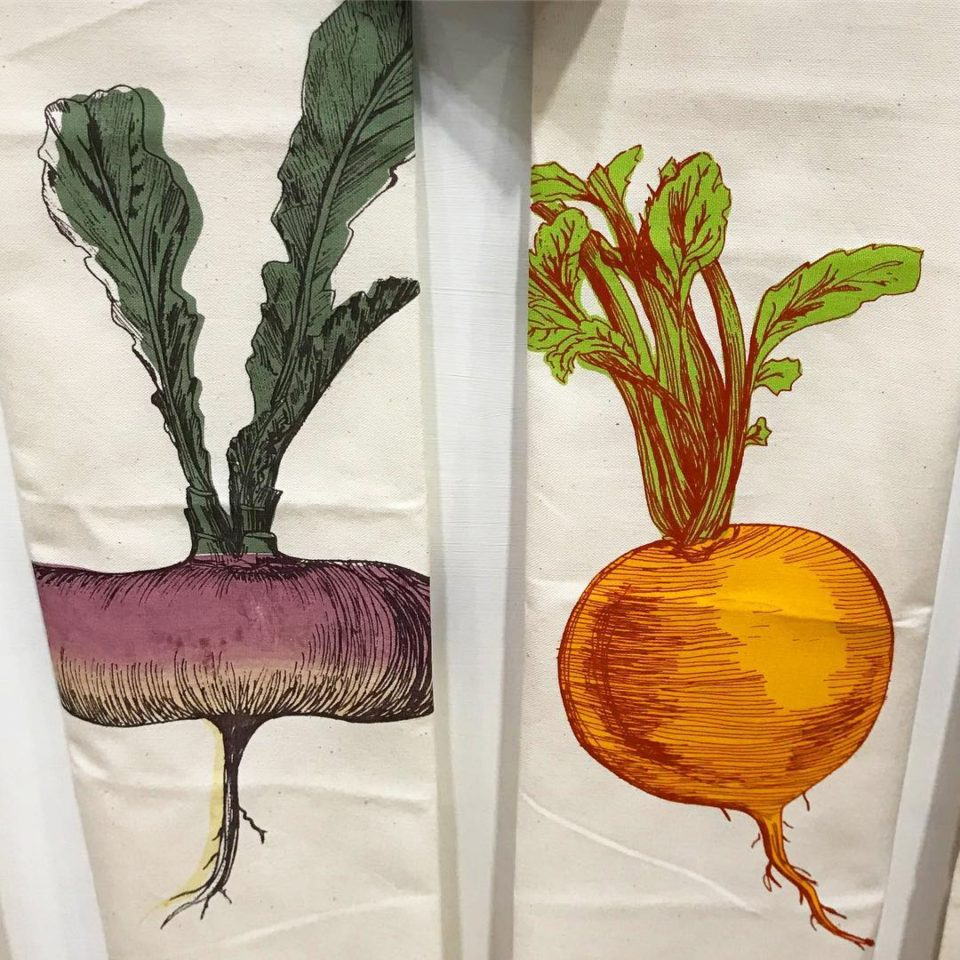 Vegetable Tea Towels, Country Living Fair