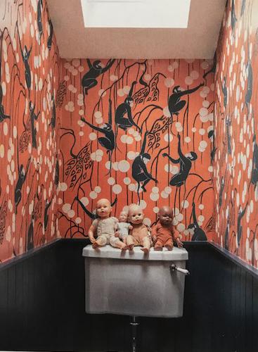 DeGournay Monkeys, Wallpaper, dolls